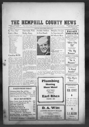 Primary view of object titled 'The Hemphill County News (Canadian, Tex), Vol. 7, No. 42, Ed. 1, Friday, June 22, 1945'.