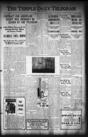 Primary view of object titled 'The Temple Daily Telegram. And Tribune (Temple, Tex.), Vol. 3, No. 96, Ed. 1 Thursday, March 10, 1910'.