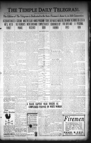 Primary view of object titled 'The Temple Daily Telegram. (Temple, Tex.), Vol. 3, No. 149, Ed. 1 Wednesday, May 11, 1910'.