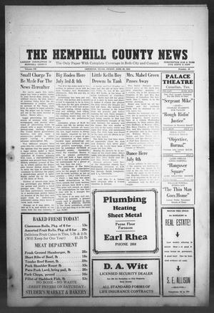 Primary view of object titled 'The Hemphill County News (Canadian, Tex), Vol. 7, No. 43, Ed. 1, Friday, June 29, 1945'.