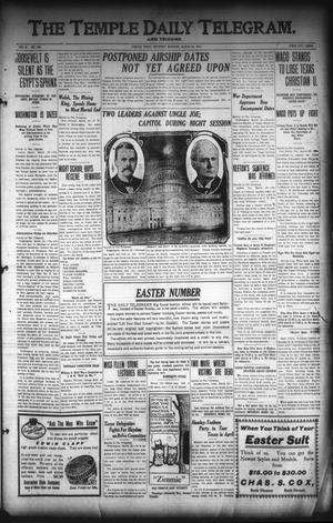Primary view of object titled 'The Temple Daily Telegram. And Tribune (Temple, Tex.), Vol. 3, No. 108, Ed. 1 Thursday, March 24, 1910'.