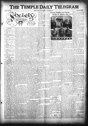 Primary view of object titled 'The Temple Daily Telegram (Temple, Tex.), Vol. 3, No. 267, Ed. 1 Sunday, September 25, 1910'.