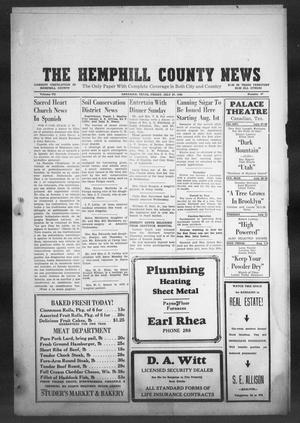 Primary view of object titled 'The Hemphill County News (Canadian, Tex), Vol. 7, No. 47, Ed. 1, Friday, July 27, 1945'.
