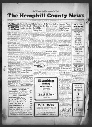 The Hemphill County News (Canadian, Tex), Vol. 7, No. 50, Ed. 1, Friday, August 17, 1945