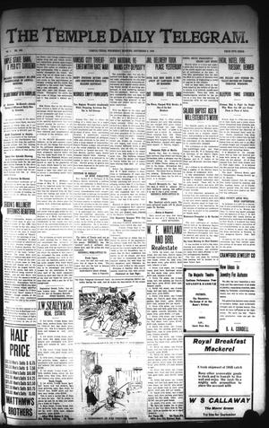 Primary view of object titled 'The Temple Daily Telegram. (Temple, Tex.), Vol. 1, No. 253, Ed. 1 Wednesday, September 9, 1908'.