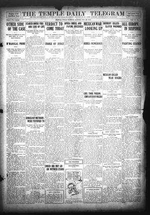 Primary view of object titled 'The Temple Daily Telegram (Temple, Tex.), Vol. 6, No. 7, Ed. 1 Tuesday, November 26, 1912'.