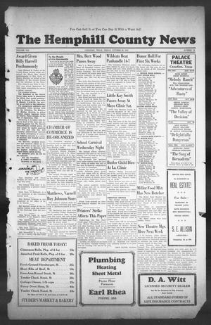 Primary view of object titled 'The Hemphill County News (Canadian, Tex), Vol. 8, No. 7, Ed. 1, Friday, October 26, 1945'.