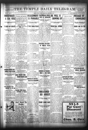 Primary view of object titled 'The Temple Daily Telegram (Temple, Tex.), Vol. 4, No. 79, Ed. 1 Tuesday, February 21, 1911'.