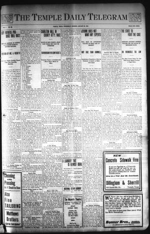 Primary view of object titled 'The Temple Daily Telegram (Temple, Tex.), Vol. 1, No. 62, Ed. 1 Wednesday, January 29, 1908'.