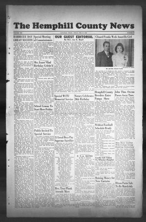 Primary view of object titled 'The Hemphill County News (Canadian, Tex), Vol. 8, No. 24, Ed. 1, Friday, February 22, 1946'.