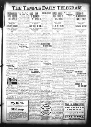 Primary view of object titled 'The Temple Daily Telegram (Temple, Tex.), Vol. 3, No. 194, Ed. 1 Saturday, July 2, 1910'.