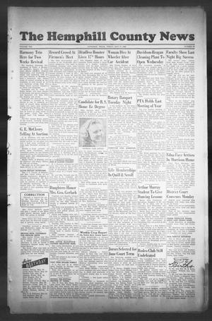 Primary view of object titled 'The Hemphill County News (Canadian, Tex), Vol. 8, No. 36, Ed. 1, Friday, May 17, 1946'.