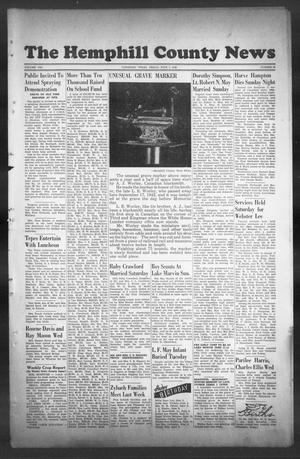 Primary view of object titled 'The Hemphill County News (Canadian, Tex), Vol. 8, No. 39, Ed. 1, Friday, June 7, 1946'.