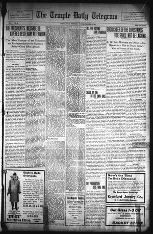 Primary view of object titled 'The Temple Daily Telegram (Temple, Tex.), Vol. 1, No. 14, Ed. 1 Wednesday, December 4, 1907'.