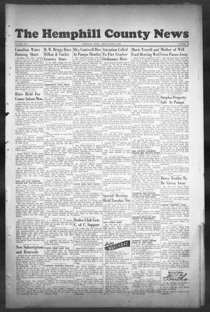 Primary view of object titled 'The Hemphill County News (Canadian, Tex), Vol. 8, No. 40, Ed. 1, Friday, June 14, 1946'.