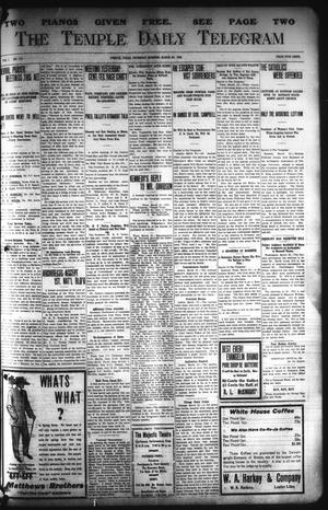 Primary view of object titled 'The Temple Daily Telegram (Temple, Tex.), Vol. 1, No. 111, Ed. 1 Thursday, March 26, 1908'.