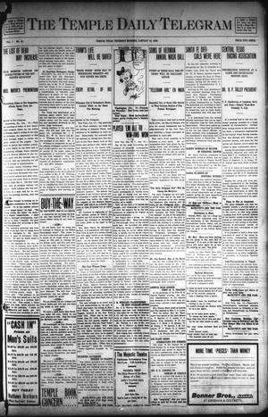 Primary view of object titled 'The Temple Daily Telegram (Temple, Tex.), Vol. 1, No. 51, Ed. 1 Thursday, January 16, 1908'.