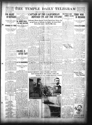 Primary view of object titled 'The Temple Daily Telegram (Temple, Tex.), Vol. 5, No. 138, Ed. 1 Saturday, April 27, 1912'.