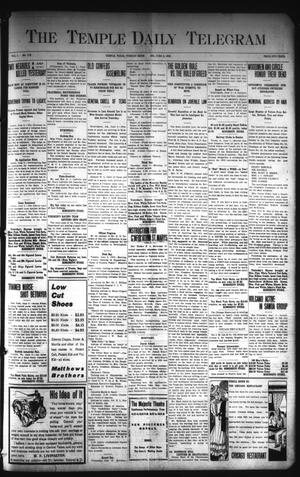 Primary view of object titled 'The Temple Daily Telegram (Temple, Tex.), Vol. 1, No. 175, Ed. 1 Tuesday, June 9, 1908'.
