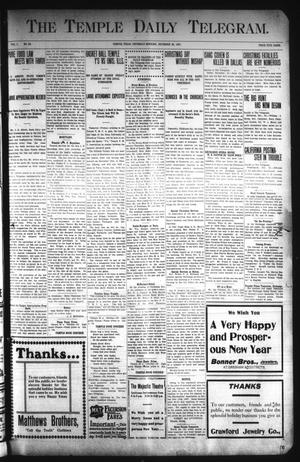 Primary view of object titled 'The Temple Daily Telegram. (Temple, Tex.), Vol. 1, No. 33, Ed. 1 Thursday, December 26, 1907'.