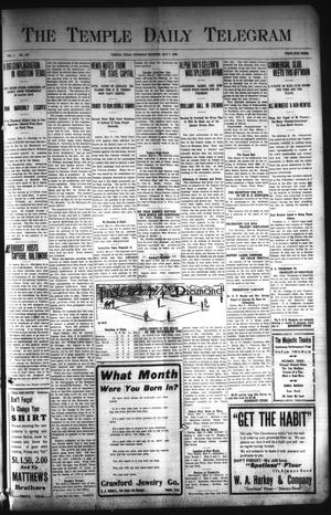 Primary view of object titled 'The Temple Daily Telegram (Temple, Tex.), Vol. 1, No. 147, Ed. 1 Thursday, May 7, 1908'.