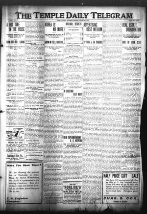 Primary view of object titled 'The Temple Daily Telegram (Temple, Tex.), Vol. 3, No. 240, Ed. 1 Thursday, August 25, 1910'.