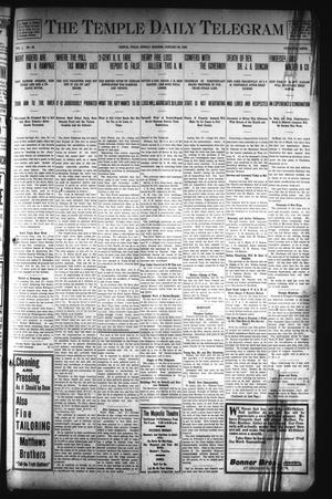 Primary view of object titled 'The Temple Daily Telegram (Temple, Tex.), Vol. 1, No. 60, Ed. 1 Sunday, January 26, 1908'.