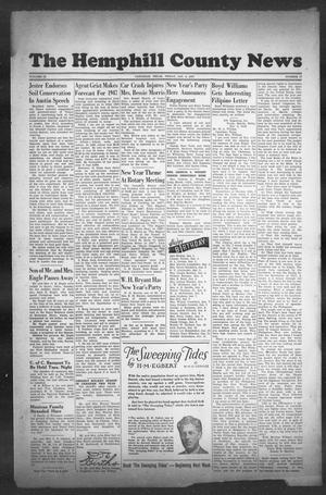 Primary view of object titled 'The Hemphill County News (Canadian, Tex), Vol. 9, No. 17, Ed. 1, Friday, January 3, 1947'.