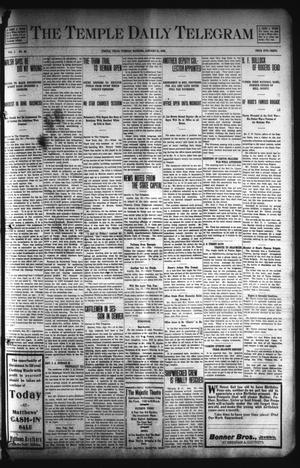 Primary view of object titled 'The Temple Daily Telegram (Temple, Tex.), Vol. 1, No. 55, Ed. 1 Tuesday, January 21, 1908'.