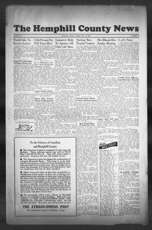 Primary view of object titled 'The Hemphill County News (Canadian, Tex), Vol. 9, No. 23, Ed. 1, Friday, February 14, 1947'.
