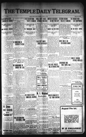 Primary view of object titled 'The Temple Daily Telegram. (Temple, Tex.), Vol. 1, No. 228, Ed. 1 Tuesday, August 11, 1908'.