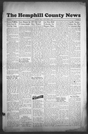 Primary view of object titled 'The Hemphill County News (Canadian, Tex), Vol. 9, No. 26, Ed. 1, Friday, March 7, 1947'.