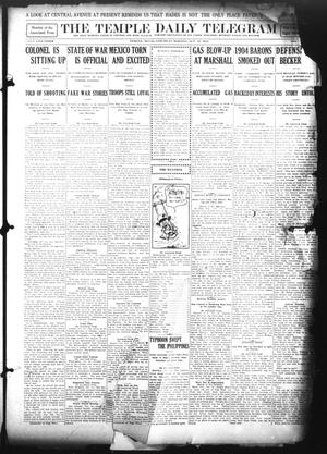 Primary view of object titled 'The Temple Daily Telegram (Temple, Tex.), Vol. 5, No. 288, Ed. 1 Saturday, October 19, 1912'.