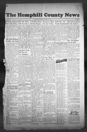 Primary view of object titled 'The Hemphill County News (Canadian, Tex), Vol. 10, No. 2, Ed. 1, Friday, September 19, 1947'.