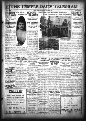 Primary view of object titled 'The Temple Daily Telegram (Temple, Tex.), Vol. 3, No. 250, Ed. 1 Tuesday, September 6, 1910'.