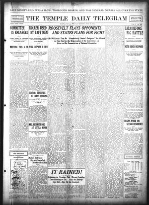 Primary view of object titled 'The Temple Daily Telegram (Temple, Tex.), Vol. 5, No. 182, Ed. 1 Tuesday, June 18, 1912'.