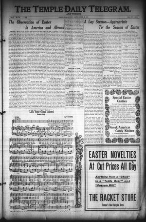 Primary view of object titled 'The Temple Daily Telegram. And Tribune (Temple, Tex.), Vol. 3, No. 110, Ed. 1 Saturday, March 26, 1910'.