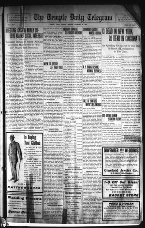 Primary view of object titled 'The Temple Daily Telegram (Temple, Tex.), Vol. 1, No. 7, Ed. 1 Tuesday, November 26, 1907'.