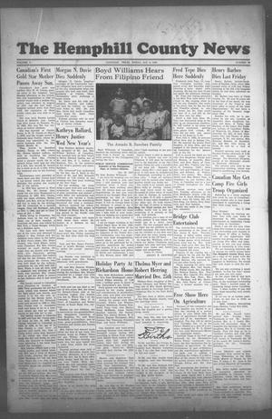 Primary view of object titled 'The Hemphill County News (Canadian, Tex), Vol. 10, No. 18, Ed. 1, Friday, January 9, 1948'.