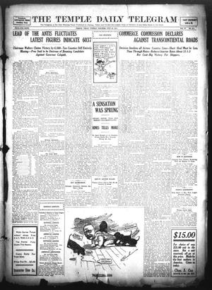 Primary view of object titled 'The Temple Daily Telegram (Temple, Tex.), Vol. 4, No. 211, Ed. 1 Tuesday, July 25, 1911'.