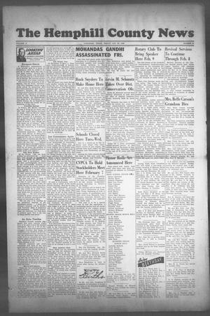 Primary view of object titled 'The Hemphill County News (Canadian, Tex), Vol. 10, No. 21, Ed. 1, Friday, January 30, 1948'.
