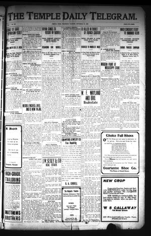 Primary view of object titled 'The Temple Daily Telegram. (Temple, Tex.), Vol. 1, No. 265, Ed. 1 Wednesday, September 23, 1908'.