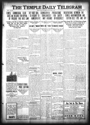 Primary view of object titled 'The Temple Daily Telegram (Temple, Tex.), Vol. 3, No. 182, Ed. 1 Saturday, June 18, 1910'.