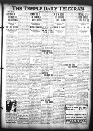 Primary view of object titled 'The Temple Daily Telegram (Temple, Tex.), Vol. 3, No. 201, Ed. 1 Sunday, July 10, 1910'.