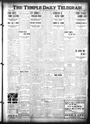 Primary view of object titled 'The Temple Daily Telegram (Temple, Tex.), Vol. 3, No. 215, Ed. 1 Wednesday, July 27, 1910'.