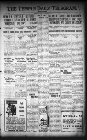 Primary view of object titled 'The Temple Daily Telegram. And Tribune (Temple, Tex.), Vol. 3, No. 98, Ed. 1 Saturday, March 12, 1910'.