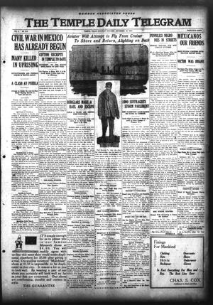 Primary view of object titled 'The Temple Daily Telegram (Temple, Tex.), Vol. 3, No. 313, Ed. 1 Saturday, November 19, 1910'.