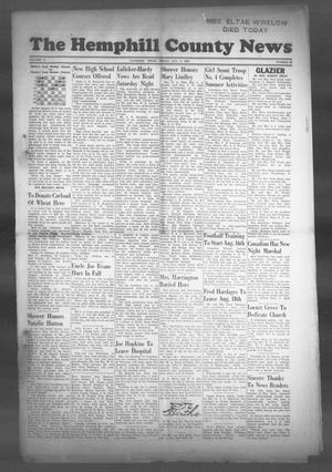 Primary view of object titled 'The Hemphill County News (Canadian, Tex), Vol. 10, No. 48, Ed. 1, Friday, August 6, 1948'.