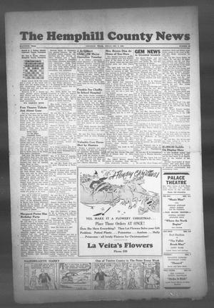 Primary view of object titled 'The Hemphill County News (Canadian, Tex), Vol. 11, No. 13, Ed. 1, Friday, December 3, 1948'.