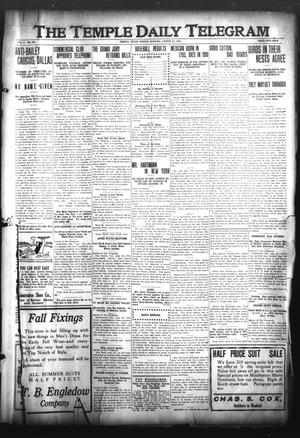 Primary view of object titled 'The Temple Daily Telegram (Temple, Tex.), Vol. 3, No. 237, Ed. 1 Sunday, August 21, 1910'.